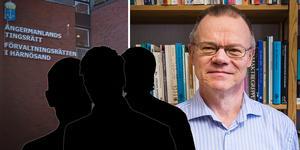Tage Alalehto, kriminolog och sociolog vid Umeå universitet.  Fotomontage.