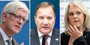 Folkhälsomyndighetens generaldirektör Johan Carlson, statsminister Stefan Löfven och socialminister Lena Hallengren håller en nytillkommen pressträff på tisdagen klockan 11.15.