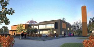 Illustration: Tina Wiik ArkitekterSå här presenterades planerna på ett islamskt center vid Stadshuset.