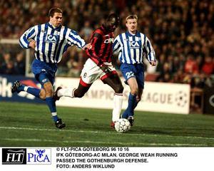 Blåvitt slog George Weahs Milan i Champions League 1996.