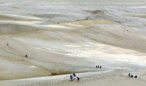 Vandringar i naturen är den bästa medicinen mot depressioner. Det var tydligt när människorna vandrade i Great Sand Dunes nationalpark i Colorado. Foto: Tomas Polvall