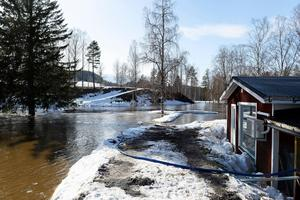 Ånäsparken i Kovland är drabbades svårt  av översvämning.