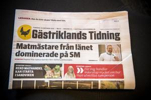 Gästriklands Tidning lägger ner. Bild: Anne Sjödin