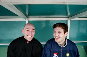 Daniel Kjörling och Andreas Bergwall under VM 2004. Bild: Jessica Gow (Scanpix)