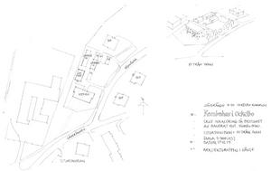 Skiss av det nya lägenhetshuset på Höjdvägen i Gäveränge, Ockelbo. Foto: Ockelbogårdar AB.