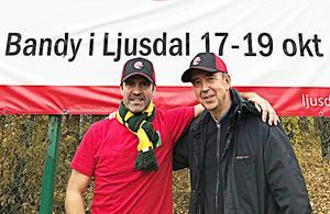 Laddade för cupfest – eventansvarige Jonas Svensson och Ljusdals ordförande Ulf Cigén.