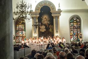Kyrkan var välfylld på fredagskvällens firande.