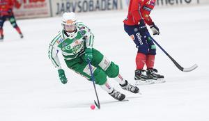 Martin Landström var stark i första halvlek – och bombade in första målet i matchen.
