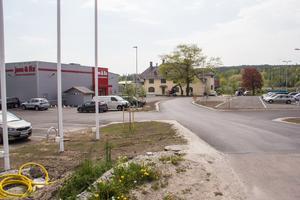Från infarten till Bangårdsgatan, den 22 maj 2019.