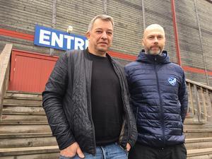 Conny Gesar (tv) och Mattias Stenis på IFK Rättvik BK ser fram emot att få fler föreningar och idrottsturnéer till Rättvik.