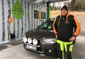 Thomas Eriksson från Ovanmyra ser sig redan som stammis på Washstop.
