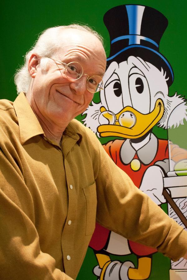 Don Rosa debuterade i Disney-sammanhang för 30 år sedan. Han skrev och ritade Kalle Anka fram till 2008. Pressbild.