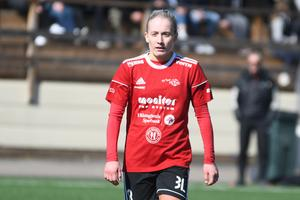 Alicia Dahlgren har med sina sex mål i vår hjälpt Team Hudiks offensiv.