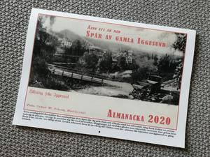 I 2020-års almanacka från gamla Iggesund, samsas riktigt gamla bilder, med bilder från 1950-talet.