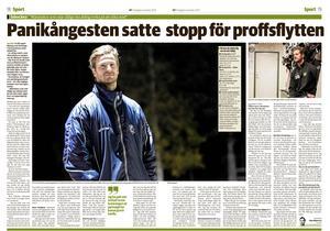 Tidningsartikeln om Emil Ax den 6 november.