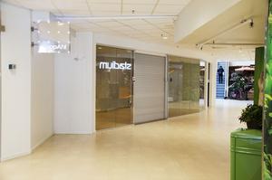 Det är många tomma utrymmen och kala väggar i In-gallerian i dag. Här låg tidigare en hälsokostbutik.