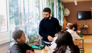 Goran Shemdin är en av fyra mentorer på Murgårdsskolan.