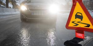 Det var på söndagen besvärligt väglag i nästan hela Västmanland.
