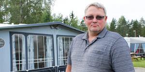 Stefan Törnblom lämnar campingen när den stänger i slutet av september.