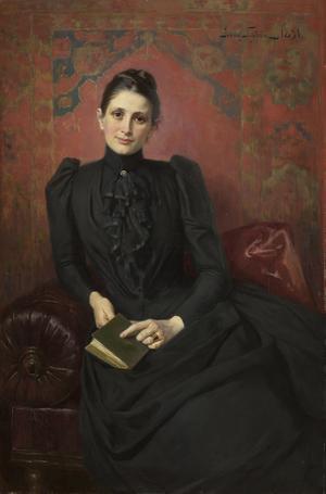 Jenny Nyströms porträtt i olja av Sophie Lundberg är daterat 1891. Pressbild. Foto: Per Myrehed