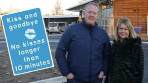Frank Olofsson, flygplatschef och Sara Rylander, marknadschef Sundsvall-Timrå Airport.