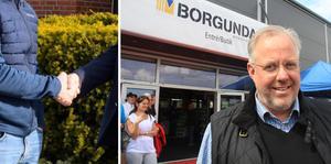 Hans Johansson, ägare av Borgunda vid invigningen av nya butiken i Skövde för några år sedan. Nu vill man expandera på flera sätt även i Skara. Foto: Anders Axelsson