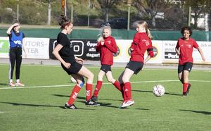 Laget tränar även med andra tjejer från Team Hudik.