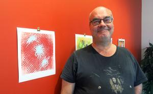 Anders Thyr har låtit musiken styra sina nyskapade bilder som just nu visas på Galleri Brynästorget.