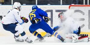 Simon Holmström gjorde Sveriges enda mål i öppningsmatchen mot USA. Bild: Jonas Forsberg/Bildbyrån