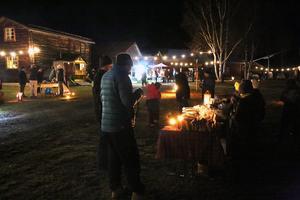 Rena julstämningen på Hede Hembygdsgården, trots snöbristen.