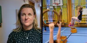 Annica Sandy Hedin välkomnar fler timmar idrott men säger att det är svårt att få till med för lite lokaler. (Foto: Klockar Mattias Nääs/ Anders Wiklund / TT)