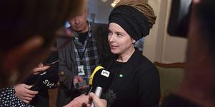 Kulturminister Amanda Lind (MP) på pressträff i riksdagshuset. Foto: Jessica Gow/ TT