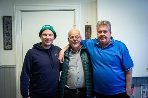 Gustaf Häggeborg, arrangörsgruppen hos Bollnäs GIF fotboll, Anders Callmyr och Kenneth Carlsson, ordförande Bollnäs GIF fotboll.
