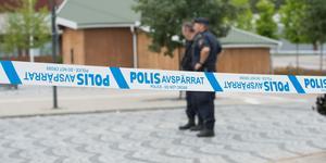 Poliser gjorde en brottsplatsundersökning under lördagen.