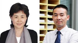 Anna XU, försäljningschef och Steven Zhang, vd, för Sund Fibertechs aktiebolag i Shanghai. Bild: privat