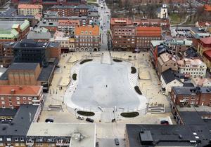 Flygbild över torget 2011. Foto: Jan Andersson