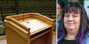 Marie Svensson, Vänstern, Krokom, är en av dem som står bakom förslaget att facket bör gå upp i talarstolen på exempelvis kommunfullmäktigemöten.