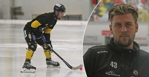 Robin Folkesson tror och hoppas på en ljus framtid för ÖSK Bandy. Och tipset att laget ska bli sexa i allsvenskan i vinter fnyser han åt.