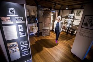 Elisabeth Breig Åsberg på muséet. Foto: Henrik Nyblad
