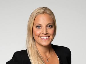 Caroline Nordling, mäklare på Länsförsäkringar fastighetsförmedling. Foto: Pär Olert