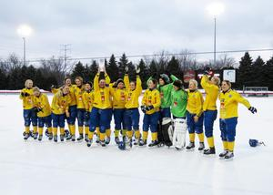 Sverige slog Ryssland med 1–0 i VM-finalen i Roseville, Minnesota för två år sedan. Bild: Fanny Nikula / Svenska Bandyförbundet