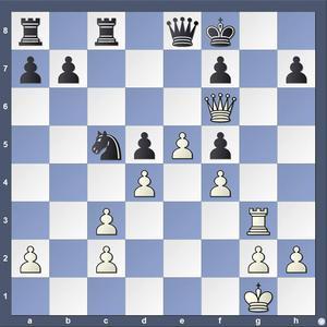 Lösning: 1.Dh6+ Ke7 2.Dd6