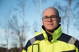 Victor Kårelid, processingenjör på Himmerfjärdsverket.