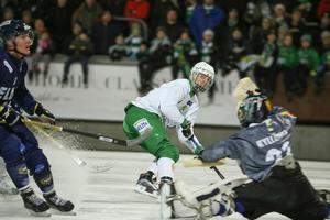 Jesper Jonsson avgjorde fjolårets annandagsderby mot Tellus. FOTO: Sören Andersson/TT