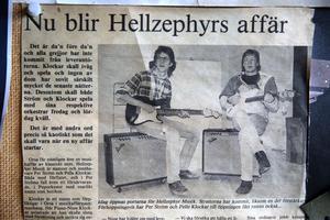 Det är 30 år mellan de båda bilderna, när Per och Pelle startade Hellzephyr Musik.....