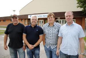 Fyra ledare med nya roller i Bollnäs IS, från vänster; Björn