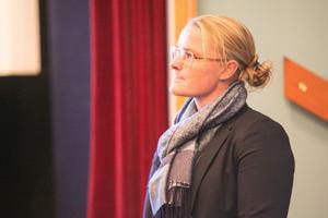 Bekymrat drag även hos Sandra Lundahl.