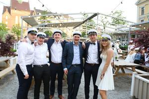Marcus Pålsgård, Jacob Sundling, Thiffanie Holgersson, Max Friberg, Emil Kånåholc och Filip Matez från Tullängsgymnasiet.