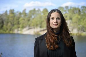 Rebecka Le Moine, kandidat till språkrör för (mp). Foto TT