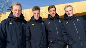 Daniel Richardsson, Calle Halfvarsson, Marcus Heller and Jens Burman kommer köra för Sverige i morgondagens stafett. Bild: Carl Sandlin/Bildbyrån.